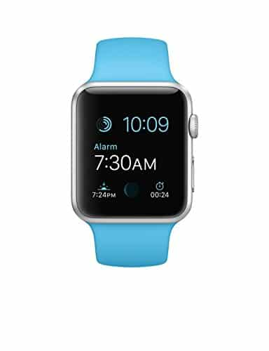 apple watch 42mm silver aluminum case with blue sport band. Black Bedroom Furniture Sets. Home Design Ideas