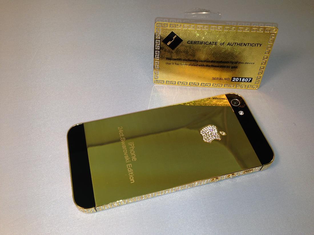 Gold iPhone 5 Conversion – 24k Real Gold iPhone 5 Conversions – Cell ... aa93ef60a4e5